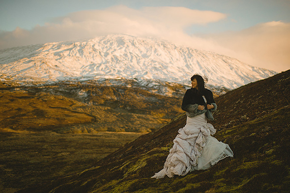 winter destination wedding A Destination Elopement in Iceland!