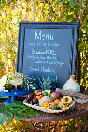 beach wedding menu Tropical Wedding + Honeymoon Ideas