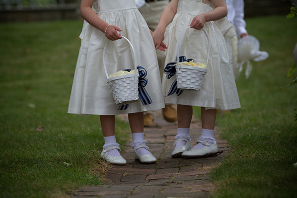 flower girl baskets A Preppy Lake Wedding in Michigan