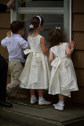 flower girl dresses A Preppy Lake Wedding in Michigan