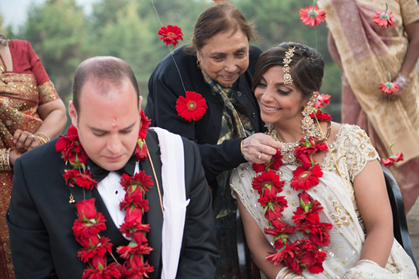 indian wedding dress A Jewish + Hindu Destination Wedding in Antigua, Guatemala