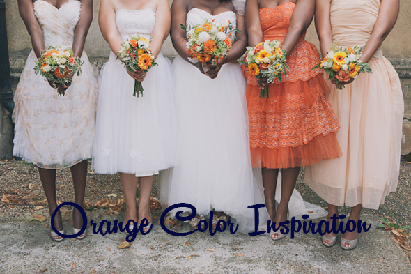 london wedding blushandwhimsy 22 Color Palette Inspiration: Orange