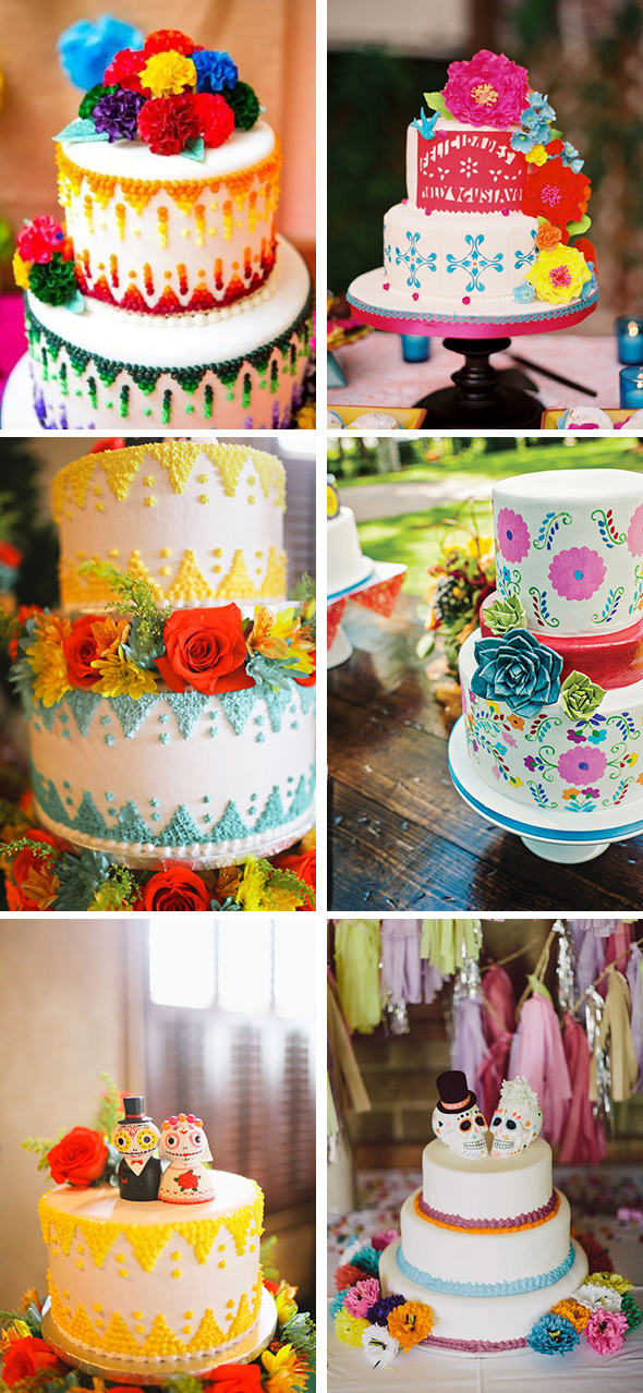 Pics Photos - Fun Festive Mexican Wedding Cake