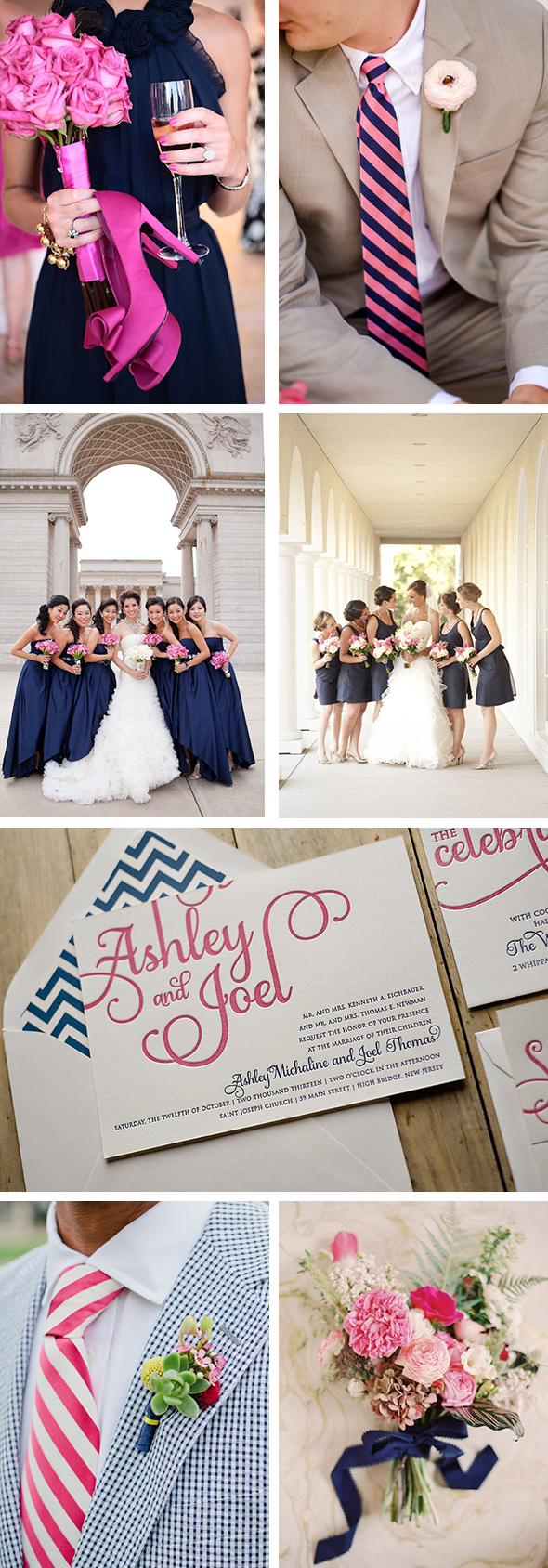 navy + pink Color Palette Inspiration: Navy + Pink