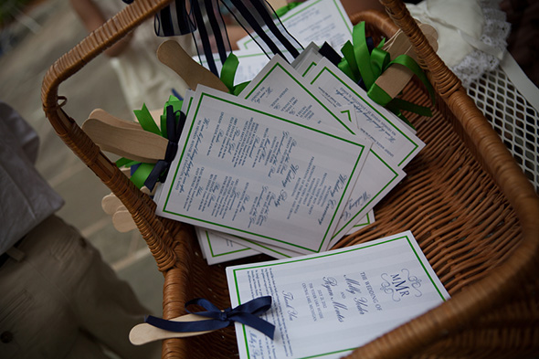 navy and green wedding A Preppy Lake Wedding in Michigan