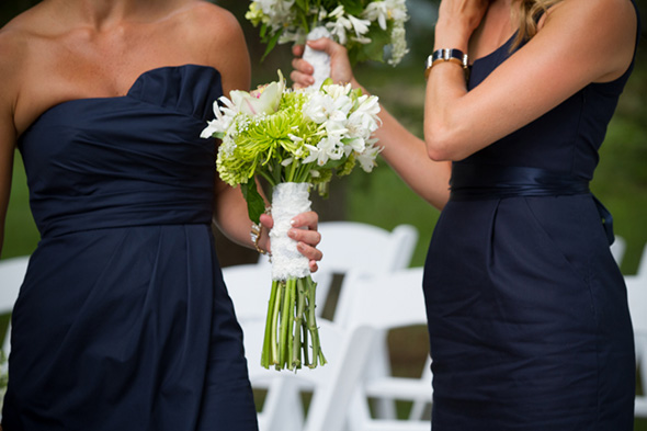 navy bridesmaid dresses A Preppy Lake Wedding in Michigan