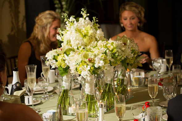 organic centerpieces A Preppy Lake Wedding in Michigan