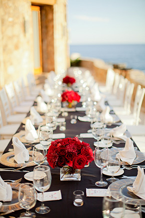 red and black weddings