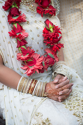 red and cream wedding A Jewish + Hindu Destination Wedding in Antigua, Guatemala