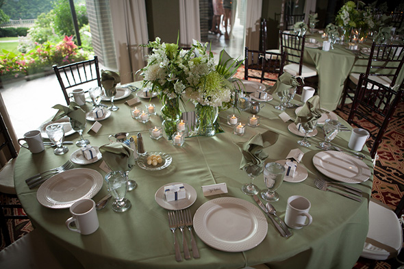 white and green weddings A Preppy Lake Wedding in Michigan