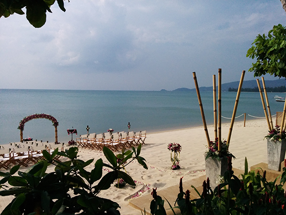 beach wedding ceremony thailand