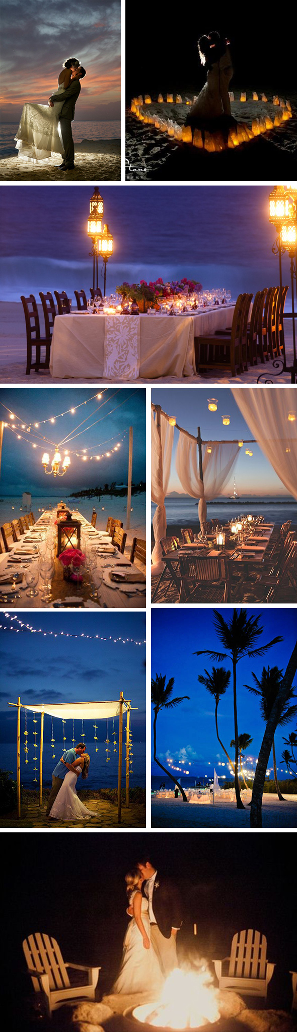 night beach weddings