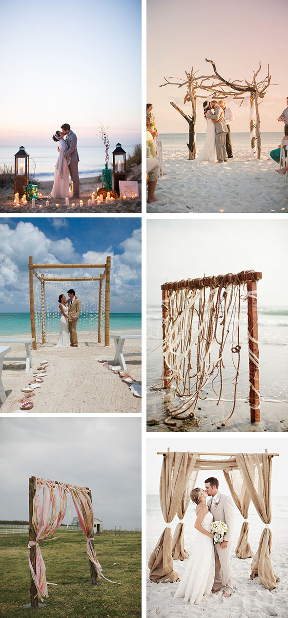 Beach Wedding Ceremony Without The Flowers