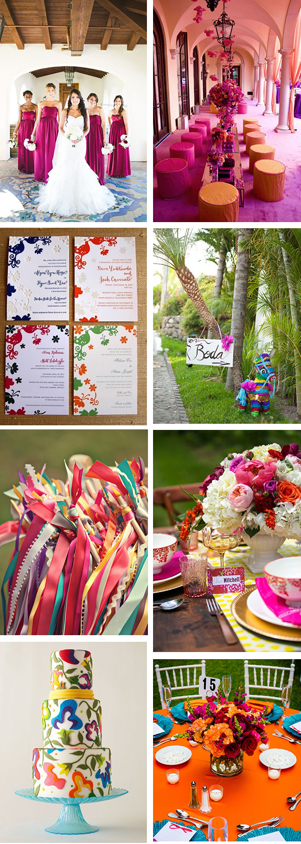 Colorful Wedding Decor Perfect For The Tropics The Destination