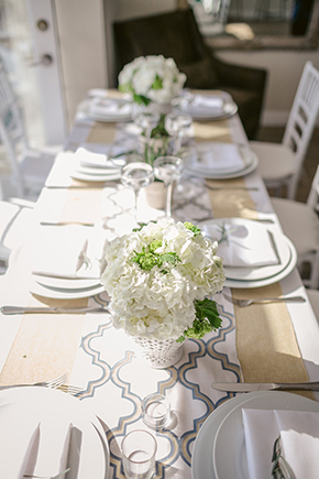 beach wedding table Modern Beach Wedding Ideas at the Pacific Edge Hotel