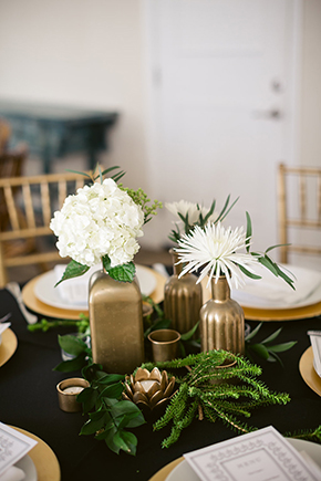 gold and black wedding Modern Beach Wedding Ideas at the Pacific Edge Hotel