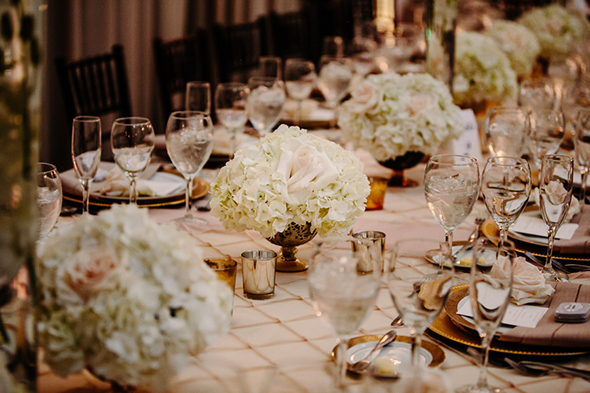 low wedding centerpieces