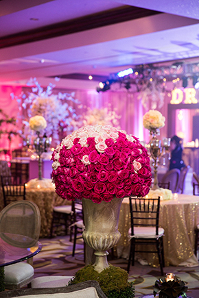 pink formal wedding