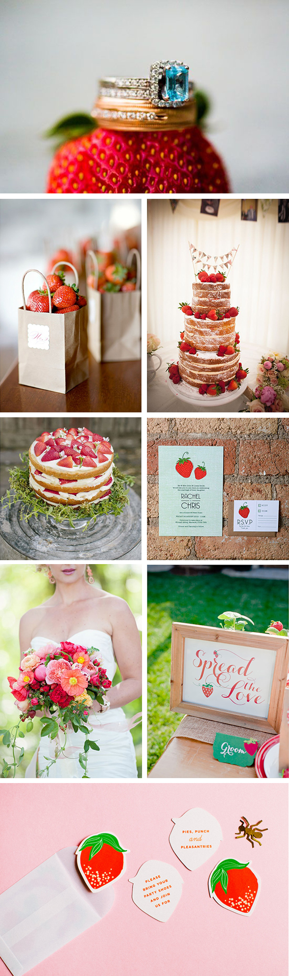 strawberry wedding  Strawberry Wedding Inspiration