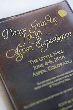 wedding invitations colorado Weddings at The Little Nell in Aspen, CO