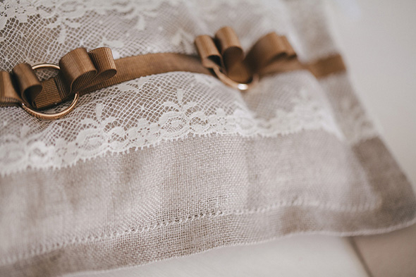 burlap ring pillow Destination Wedding in Apulia, Italy