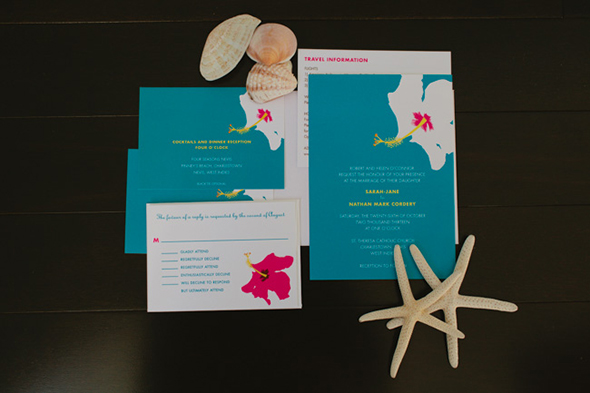 destination wedding invitation1 Four Seasons Destination Wedding in Nevis