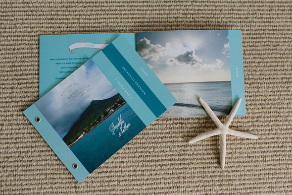 destination wedding program Four Seasons Destination Wedding in Nevis