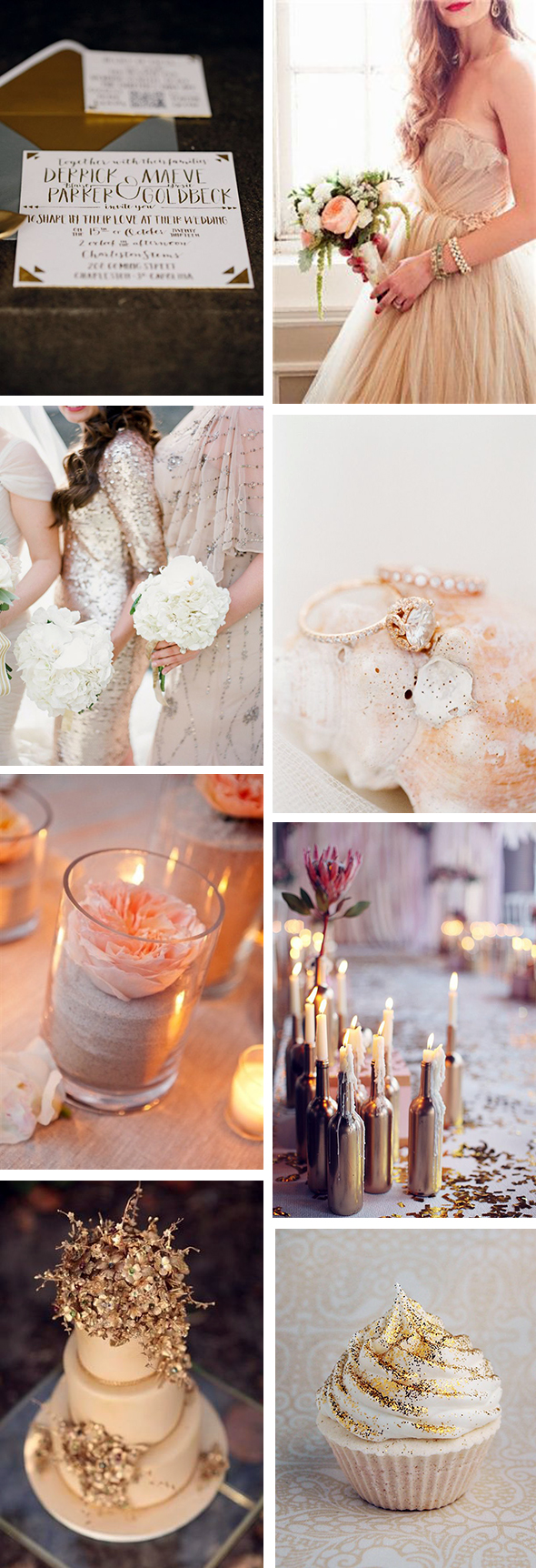 gold and sand weddings