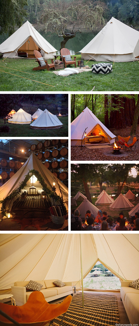 rustic tent weddings Glamping for Your Wedding with Shelter Co