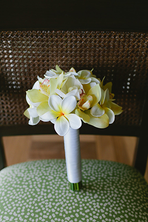 tropical bridal bouquet Four Seasons Destination Wedding in Nevis