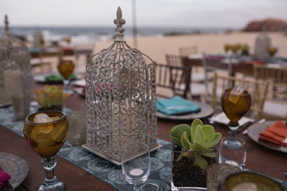 cabo wedding florists Beach Wedding Rehearsal Dinner + Welcome Party