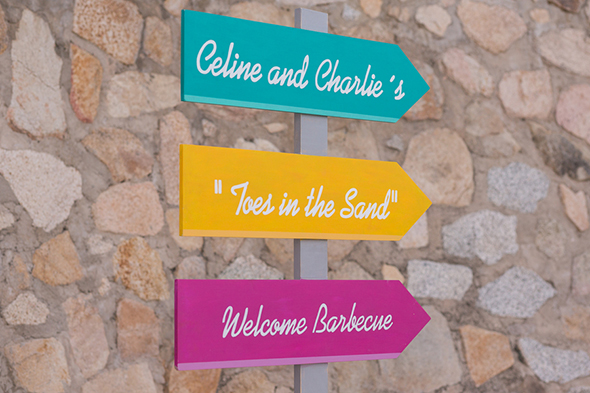 destination wedding signs Beach Wedding Rehearsal Dinner + Welcome Party