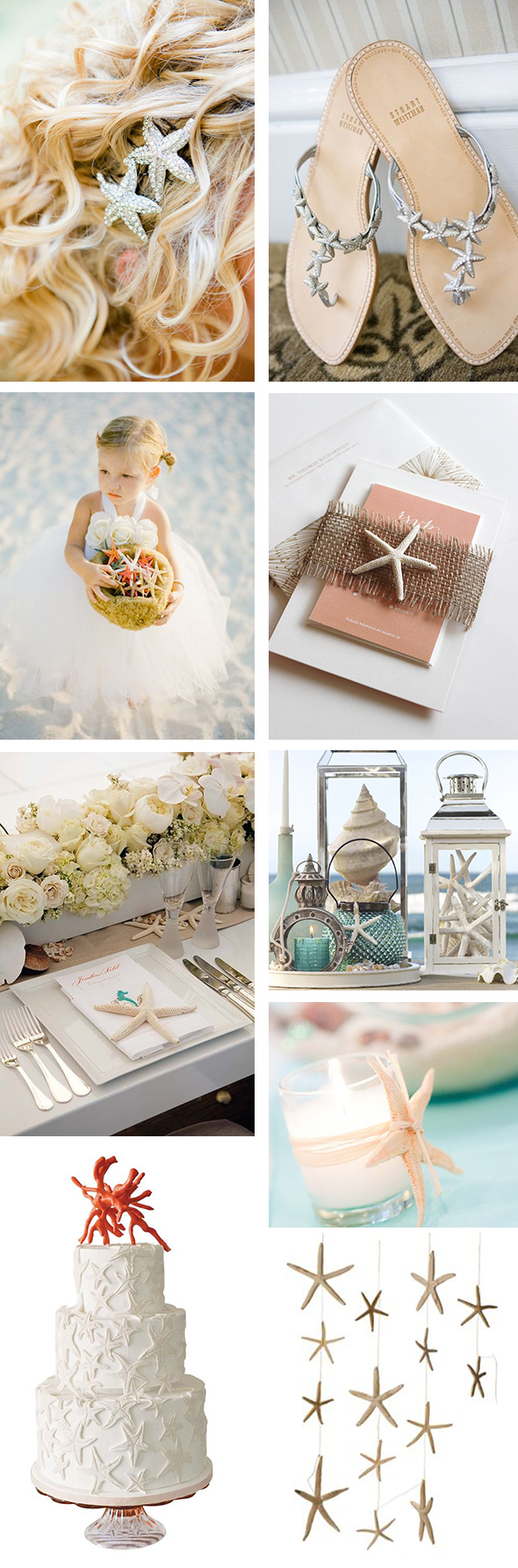 starfish wedding details