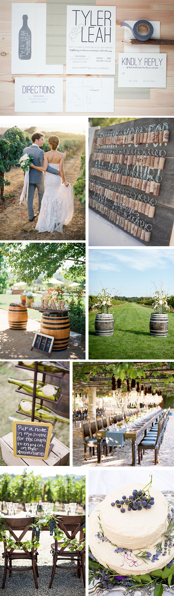 wine coutry destination weddings