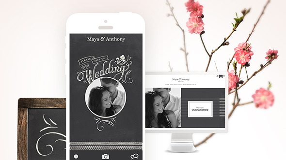 custom wedding website