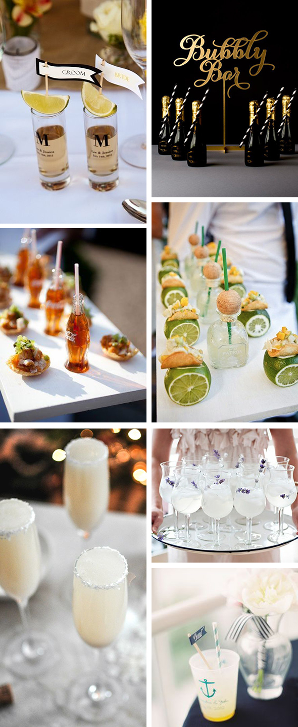 wedding cocktails Wedding Cocktails to Kick Off the Party