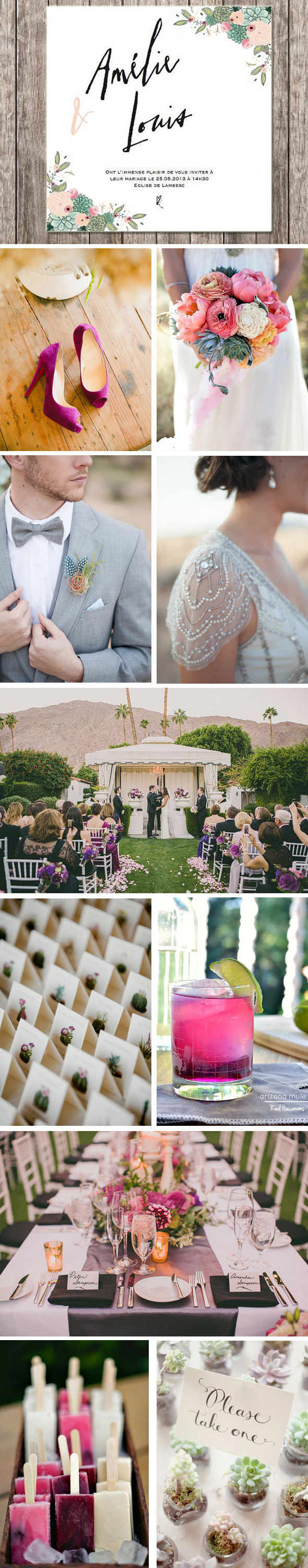 Desert Wedding Board1 Elegant Desert Wedding Inspiration