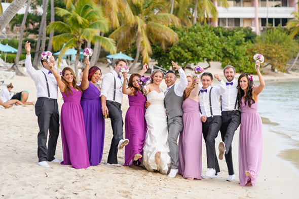 beach wedding2 St. Thomas USVI Destination Wedding in Purple