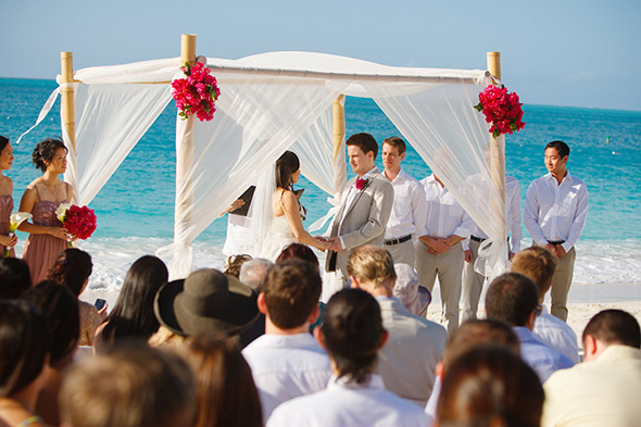 Beautiful beach wedding in turks caicos the for Best caribbean destination weddings