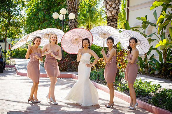 destination wedding bridesmaids