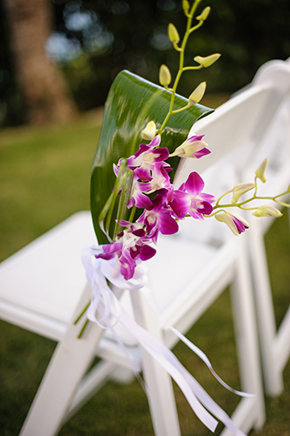 destination wedding decor St. Thomas USVI Destination Wedding in Purple
