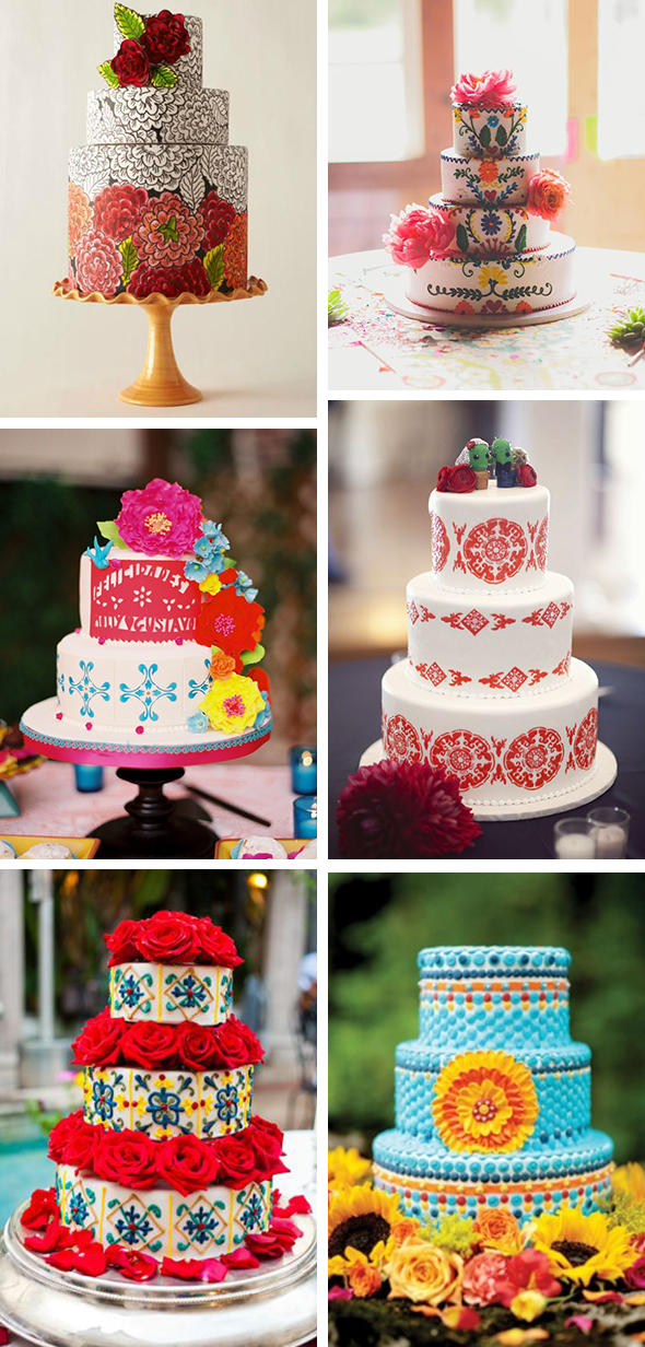 mexican fiesta cake three tiers mexican inspred fiesta wedding cake
