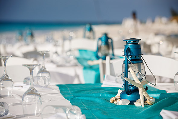 Menu And Reception Set Up At Sibonne In The Turks And: Beach Rehearsal Dinner In Turks & Caicos