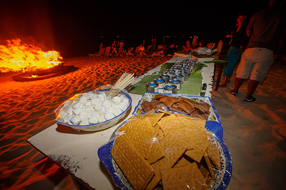 s'mores station wedding