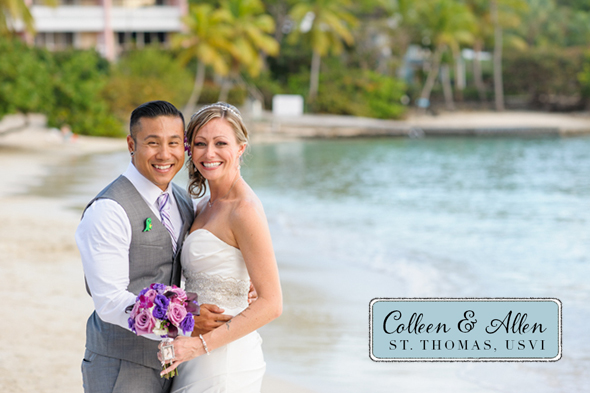 st thomas destination wedding St. Thomas USVI Destination Wedding in Purple