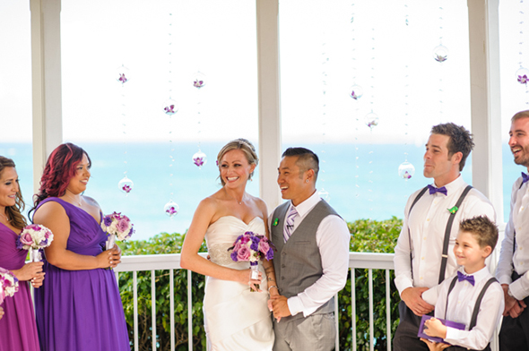 st thomas destination weddings St. Thomas USVI Destination Wedding in Purple