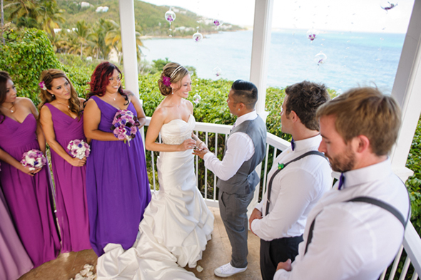 st thomas usvi destination wedding St. Thomas USVI Destination Wedding in Purple