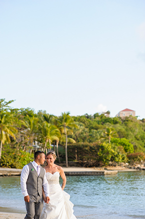 st thomas wedding St. Thomas USVI Destination Wedding in Purple