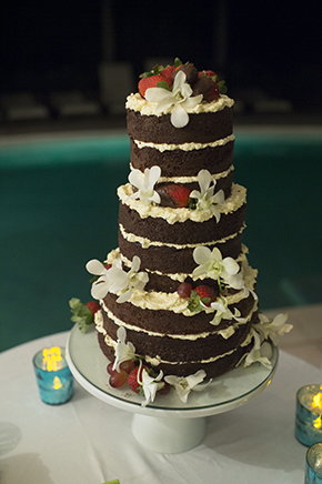 unfinished wedding cakes