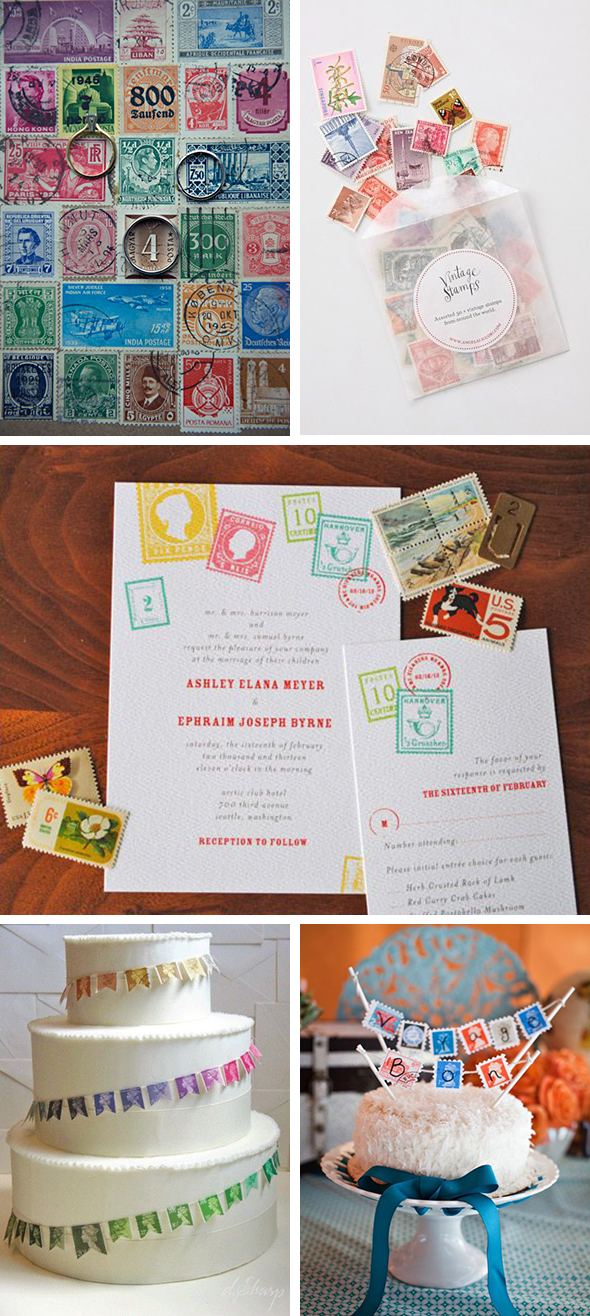 stamp wedding ideas